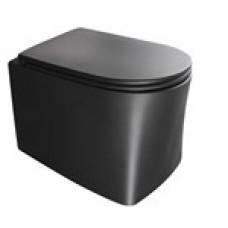 Унитаз подвесной безободковый AxA DP NoRim 8401007 Чёрный матовый
