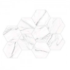 Керамогранит ALMERA CERAMICA (SPAIN) CALACATTA WHITE HEX 8×240×200