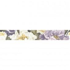 Плитка Інтеркерама Metalico бордюр вертикальный фиолетовый/ БВ 89 051