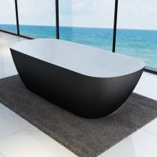 Ванна DEVIT LAGUNA 18056110B отдельностоящая с цветным фасадом, чорный матовый 1800x800x560