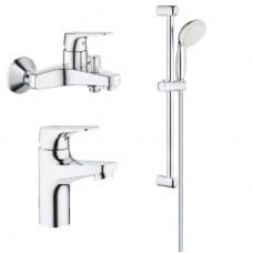 Grohe Комплект смесителей BauFlow 3 в 1 для ванной (121624S)