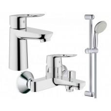 Grohe Набор смесителей BAU LOOP 3 в 1 для ванны (123214S)