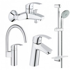 Grohe Набор смесителей Eurosmart 4 в 1 для ванны и кухни (123248MK)