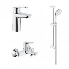 Grohe Комплект смесителей BauEdge 3 в 1 для ванной (123365S)