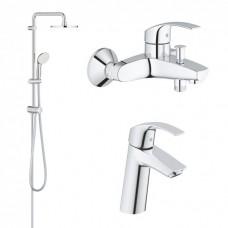 Grohe Eurosmart набор смесителей для ванной комнаты (123389M)