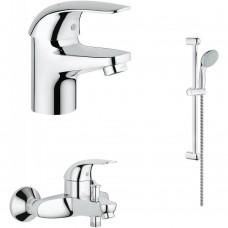 Grohe Euroeco набор для ванны 3 в 1 (124428)