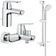 Grohe Набор смесителей Eurosmart Cosmopolitan 3 в 1 для ванны и душа (126111S)