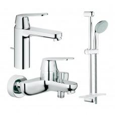 Grohe Набор смесителей Eurosmart Cosmopolitan 3 в 1 для ванны и душа (126112M)