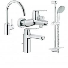 Grohe Набор смесителей Eurosmart Cosmopolitan 4 в 1 для ванны и кухни (126115MK)