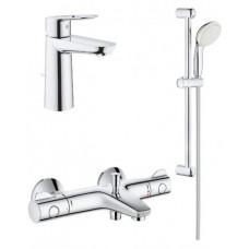 Grohe Grohtherm 800 + BauLoop набор смесителей для ванной (34550TM)