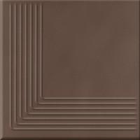 Клинкер Opoczno Loft brown steptread corner ступень угловая 11×300×300