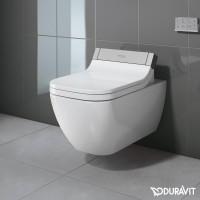 Подвесной безободковый унитаз Duravit Rimless Happy D.2 SensoWash 2550590000