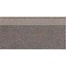 Керамогранит Cersanit MILTON DARK GREY STEPTREAD ступень 8×598×298
