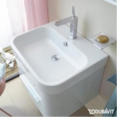 ⇨ Раковины | Керамическая раковина 60 см Duravit Happy D.2 2318600000 в интернет-магазине ▻ TILES ◅