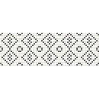 Плитка Opoczno Pret-a-Porter Black&White Mosaic декор 10×250×750