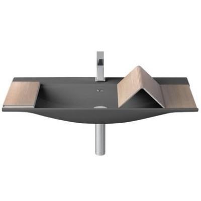 ⇨ Раковины | Керамическая раковина 90 см Artceram The One, grey olive (THL002 15;00) в интернет-магазине ▻ TILES ◅