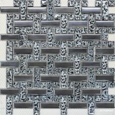 Мозаика Grand Kerama Плетенка платина - платина рифл.