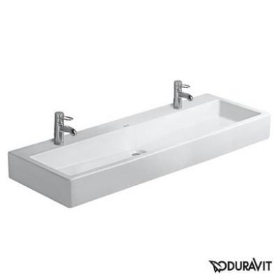 Керамическая раковина 120 см Duravit Vero, белая 0454120072