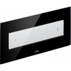Клавиша смыва Viega Visign for Style 12 модель 8332.1, стекло парсоль/черный, клавиша белая 690625