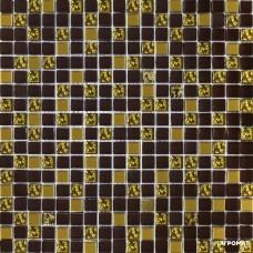Мозаика Grand Kerama 915-Микс(шоколад-золото-рифленое золото)