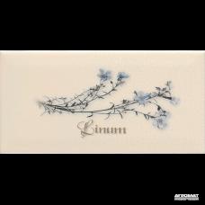Плитка APE Ceramica Metro DEC LINUM CREMA декор 6×200×100