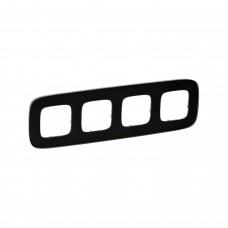 Четырехпостовая рамка LEGRAND Valena Allure Черное стекло (755534)