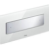 Клавиша смыва Viega Visign for Style 12 модель 8332.1, стекло прозр./светло-серый/клавиша хром 690601