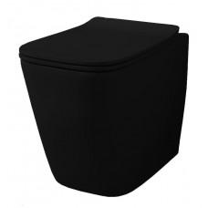 Напольный безободковый унитаз Artceram A16 (ASV004 03;00) black glossy