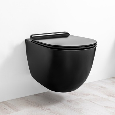 ⇨ Унитазы | Унитаз подвесной безободковый Simas Vignoni с крышкой soft close (VI 18+VI 004) в интернет-магазине ▻ TILES ◅