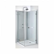 NExT боковая стенка 120 см с релингом, закаленное стекло, хром/серебряный блеск, Reflex. Для комплектации с распашными дверьми NExT HDSF