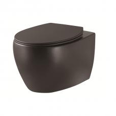 DEVIT 3020155B ACQUA NEW Унитаз подвесной без ободка, тонка крышка soft-close, quickfix, чёрный матовый