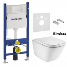 Комплект инсталляция GEBERIT Duofix 458.126.00.1 с унитазом Roca GAP Rimless A34H47C000 и сидением soft-close