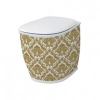 Напольный унитаз Artceram Azuley (AZV002 01;89) white glossy/gold damasco