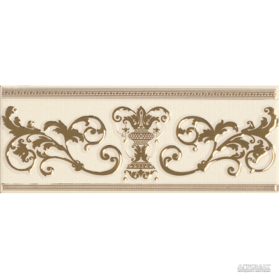 Плитка APE Ceramica Le Marais LIST RODIN IVORY GOLD 8×250×100