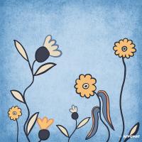 Плитка Almera Ceramica Prima Maria DEC BLUE 5 7×200×200