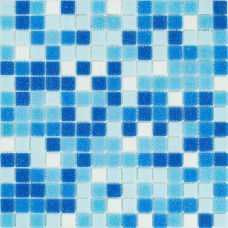 Мозаика Stella di Mare R-MOS B1133323135 микс голубой-5 (на сетке) 20x20