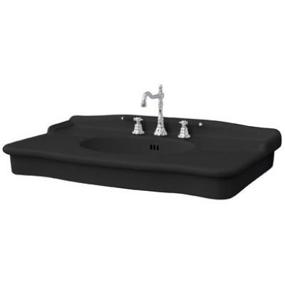 Керамическая раковина 112 см Artceram Hermitage, black glossy (HEL004 03;00)