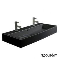 Керамическая раковина 120 см Duravit Vero, черная 0454120826