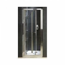 GEO 6 двери bifold 90 см, закаленное стекло, серебряный блеск