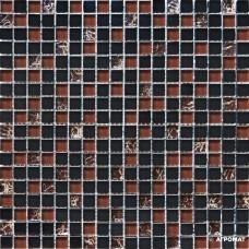 Мозаика Grand Kerama 2076 микс черный камень 6×300×300