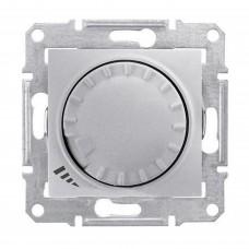 Светорегулятор поворотно-нажимной проходной емкостной Schneider Sedna Алюминий (SDN2200960)