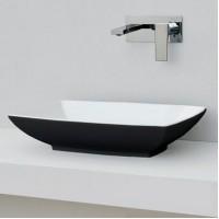 Керамическая раковина 60 см Artceram Jazz, white glossy/black bicolor (JZL002 01;50)