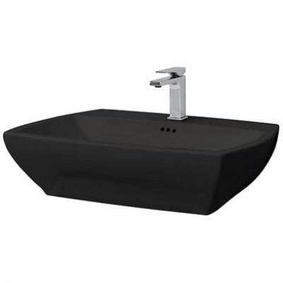 ⇨ Раковины   Керамическая раковина 70 см Artceram Jazz, black glossy (JZL005 03;00) в интернет-магазине ▻ TILES ◅