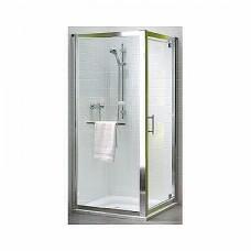 GEO 6 двери pivot 90 см, закаленное стекло, серебряный блеск
