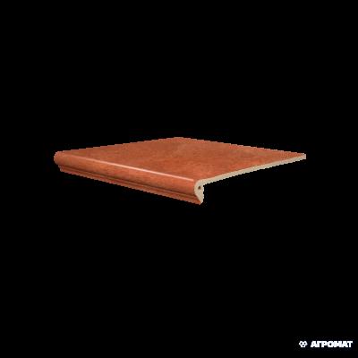 ⇨ Клинкерная плитка   Клинкер SDS Keramik Koblenz FLORENTINER BRAUN ступени в интернет-магазине ▻ TILES ◅