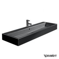 Керамическая раковина 120 см Duravit Vero, черная 0454120827