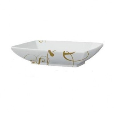 Керамическая раковина 60 см Artceram Jazz, white glossy/lettering oro (JZL002 01;06)