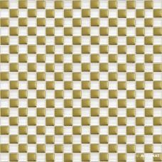 Мозаика Grand Kerama 413 шахматка белый-золото 6×300×300