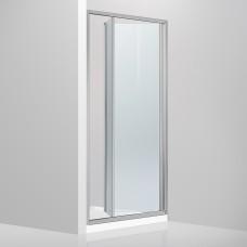 Душевая дверь в нишу Devit Fresh FEN9210 раздвижная, би-фолд - 100*190 - хром/прозрачное стекло