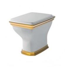 Напольный унитаз Artceram Civitas (CIV003 01;91) white glossy/gold stripe